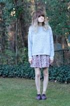 vintage sweater - doc martens shoes - vintage romper