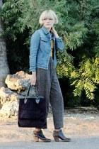 helmut lang vintage jacket - Rachel Comey boots - mustard vintage shirt