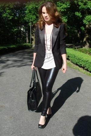 H&M blazer - leggings - Zara top - Chix shoes - accessories