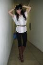 White-from-thailand-shirt-black-american-apparel-leggings-brown-fendi-blue