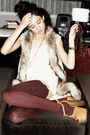 Beige-h-m-vest-beige-urban-outfitters-intimate-red-american-apparel-socks-