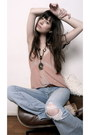 Camel-piko-coat-light-blue-lf-jeans-light-pink-urban-outfitters-shirt-pink