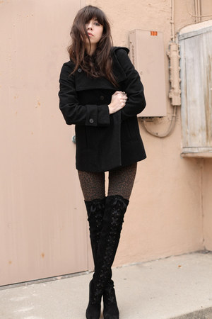 Pac Sun pants - black Robert Clergerie boots - Zara jacket - hm blouse
