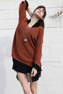 Black-dress-dress-burnt-orange-vintage-sweater-black-again-blouse