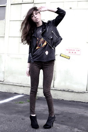 black Nasty Gal jacket - black Elizabeth and James boots