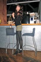 green H&M skirt - black Elizabeth & James shoes - black H&M top