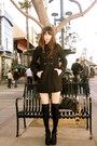 Black-h-m-jacket-eggshell-urban-outfitters-dress-black-h-m-socks-black-for
