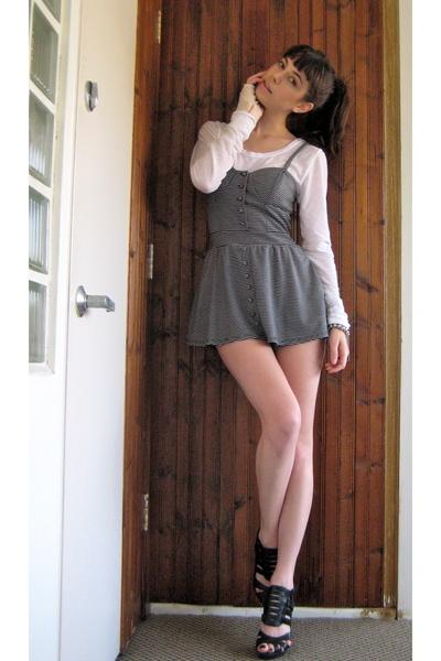 black Top Shop shoes - black Urban Outfitters dress