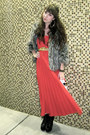 Red-vintage-dress-gray-mossimo-jacket-black-jeffrey-campbell-boots