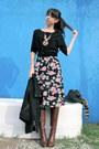 Black-h-m-sweater-pink-urban-outfitters-dress-black-gap-jacket-brown-fendi