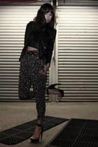 charcoal gray Walter pants - black Nasty Gal jacket - black Mink Pink top