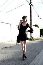 black threadsence dress - Dolce Vita boots