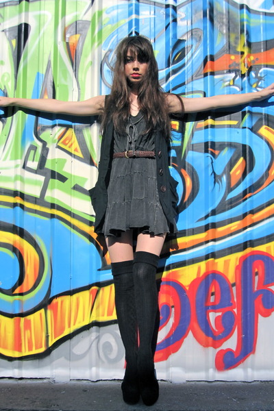 gray from Thailand dress - black Jeffrey Campbell shoes