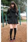 Black-urban-outfitters-t-shirt-blue-american-apparel-skirt-black-h-m-socks-