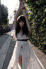 Cream-vintage-dress-white-diy-shorts-dark-brown-chloe-sandals-white-vintag