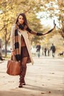 Dark-brown-zara-scarf