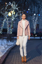 white Aldo bag - light pink Stradivarius coat - white Zara suit