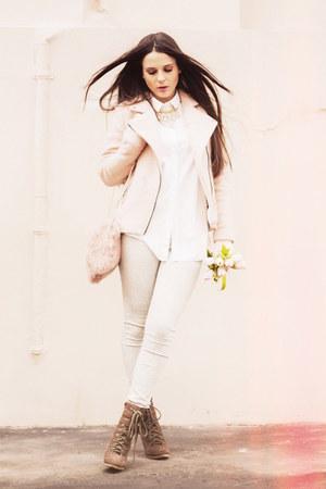 white COS shirt
