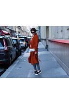 brick red Zara coat