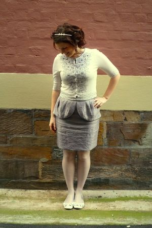 white diva headband accessories - beige Review cardigan - silver Review skirt -