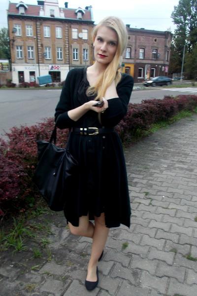 black Cubus dress - black reserved sweater - black reserved bag
