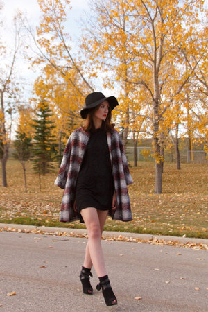 Townshoes boots - asos dress - asos coat - Anthropologie hat