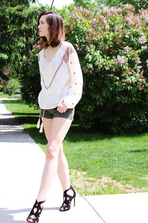 H&M shorts - Zara sandals - Nasty Gal top