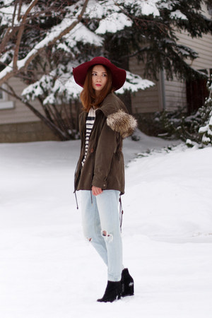 Call it Spring hat - Pegabo boots - Zara coat - 7 for all mankind jeans
