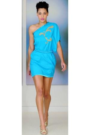handmade Aidah dress - classy blouse - chic turquoise top