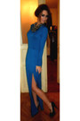 Blue-maxi-dress-beauty-angel-dress-black-christian-louboutin-pumps