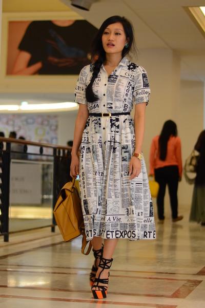 printed AJ dress