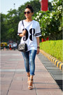 Chain-zara-bag-nude-forever-21-heels-jersey-forever21-top