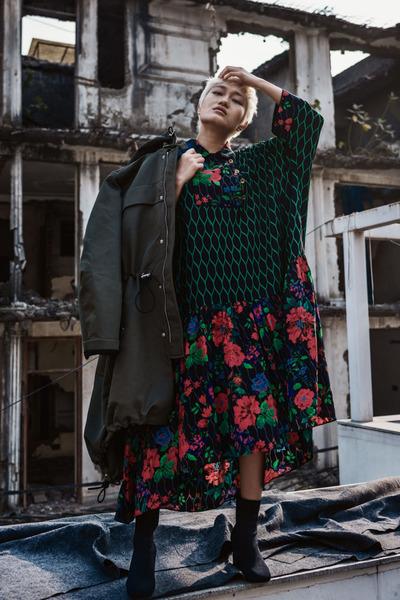 59bafe0f20c2 Green H&M Kenzo Dresses, Dark Green Parka H&M Kenzo Jackets ...