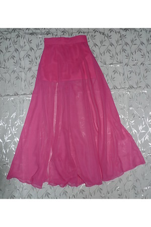 bubble gum maxi skirt