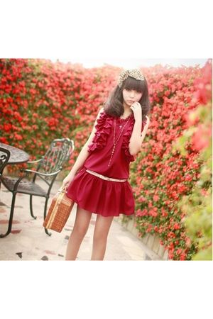 red Any  brand dress - any brand blouse