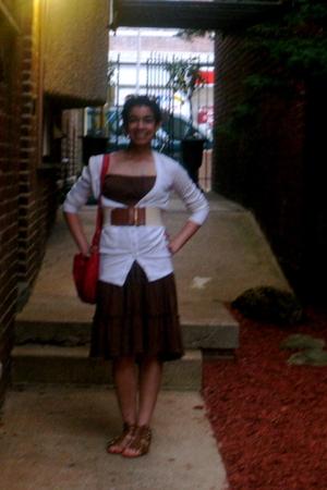 Target dress - TJ Maxx sweater - ann taylor belt - purse - Classified shoes
