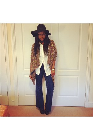 H&M Trend hat - Miss Selfridge jeans - Forever 21 cardigan