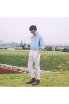 white H&M pants
