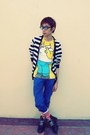 Blue-zara-man-jeans-yellow-homer-shirt-sm-boys-teens-wear-department-shirt-r