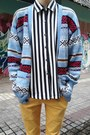 Sky-blue-knitted-sweater-cardigan