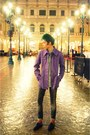 Black-christian-louboutin-knockoffs-shoes-deep-purple-jacket