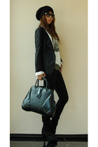 Alexander Wang jacket - april 77 jeans - Burberry Prorsum shoes - Gucci sunglass