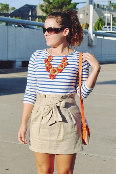 Carrot Orange Baublebar Necklaces, Orange Target Bags, Tan