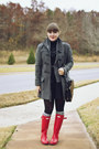 Red-rainboots-hunter-boots-charcoal-gray-forever-21-coat