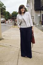 silver tweed H&M blazer - navy H&M pants