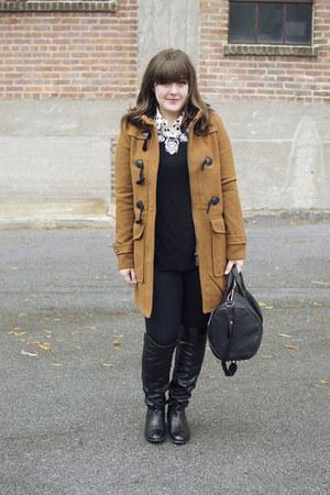black over the knee stuart weitzman boots - camel Boohoo coat
