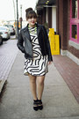 Ivory-zebra-print-tibi-dress-black-leather-moto-kenneth-cole-jacket