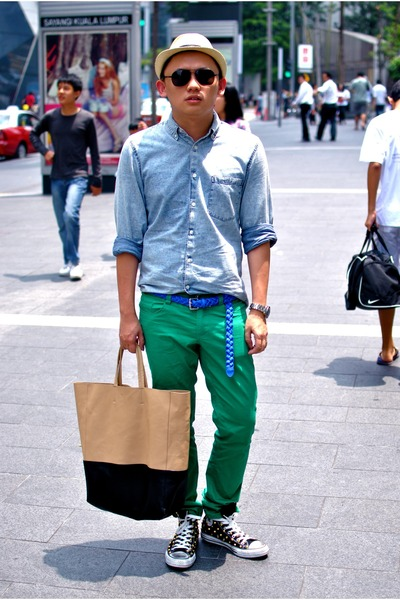 vintage jeans - jeans shirt Topman shirt - celine cabas Celine bag