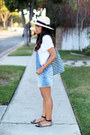Overall-thrifted-vintage-dress-panama-h-m-hat