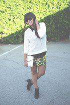 H&M sweater - Urban Outfitters boots - Forever 21 sunglasses - Zara skirt